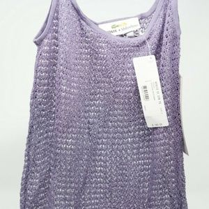 Lacoste + Malandrino Crocheted Tank Top Coverup